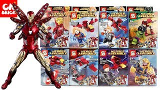 LEGO MARVEL SUPERHEROES 8 IN 1 TO HULKBUSTER ROBOT SY6399 Unofficial lego