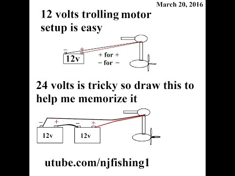 how to connect 12v 24v trolling motor with 1 and 2 batteries? trolling motor wiring new wiring diagrams