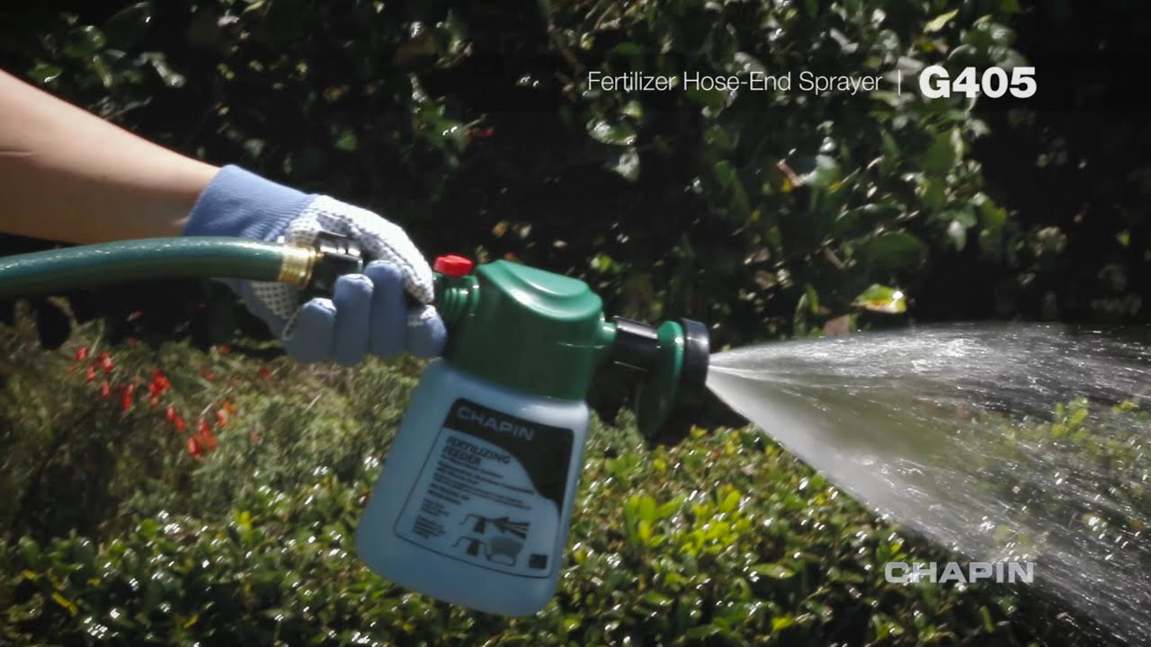 Chapin G405 Fertilizer Feeder Hose End Sprayer Youtube