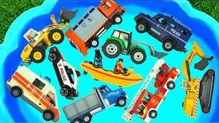 Download lagu مجموعة ألعاب الحفارة، الجرّار، شاحنة الإطفاء، سيارة الشرطة، الشاحنات