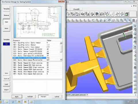 One button gate System design in die casting (Example 1: plate)