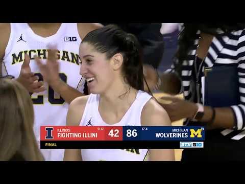Illinois at Michigan - Women's Basketball Highlights
