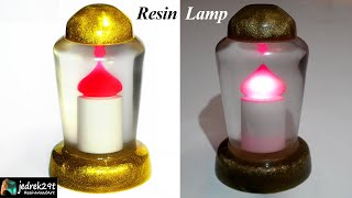 Gold Resin Lamp  / Resin Art