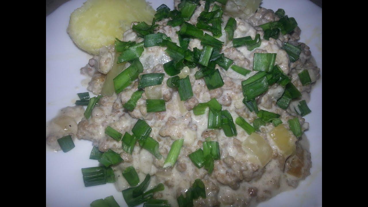 Рубленое мясо в сливочном соусе, рецепт