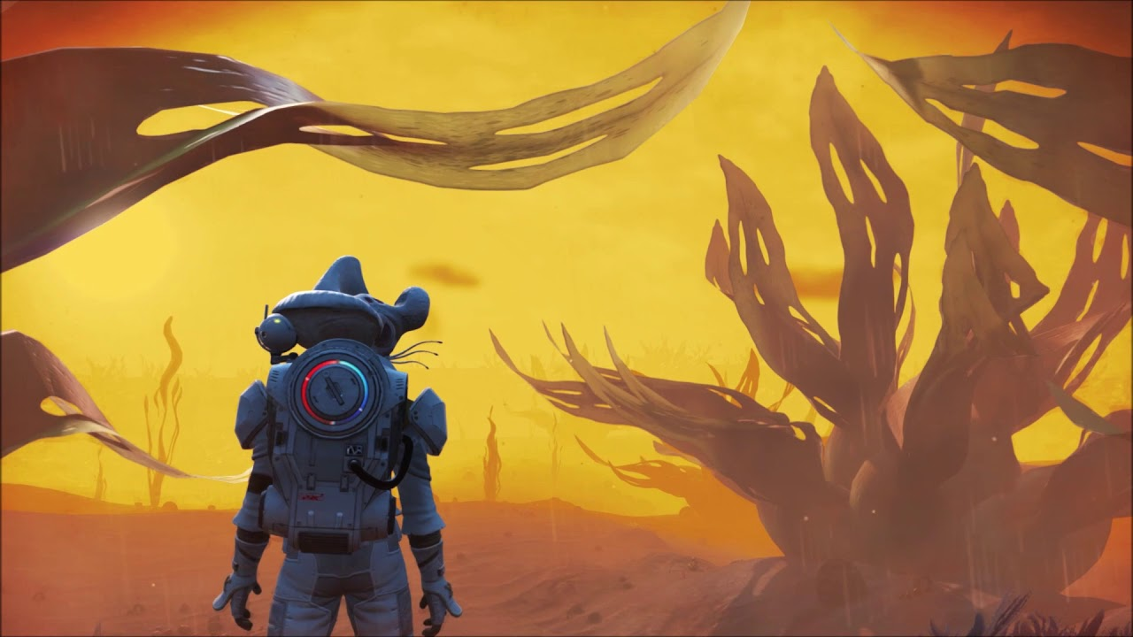 This No Man's Sky planet has constant godawful weather and I never want to leave