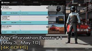 Forza Motorsport 7 - May #Forzathon Events #1 (May 3 - May 10) [4K 60FPS]