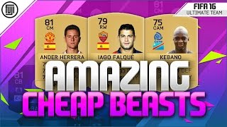 AMAZING CHEAP BEASTS!! - OVERPOWERED SQUAD BUILDER - FIFA 16 Ultimate Team