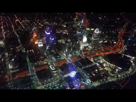 Flying Over Downtown Cincinnati At Night October 2018