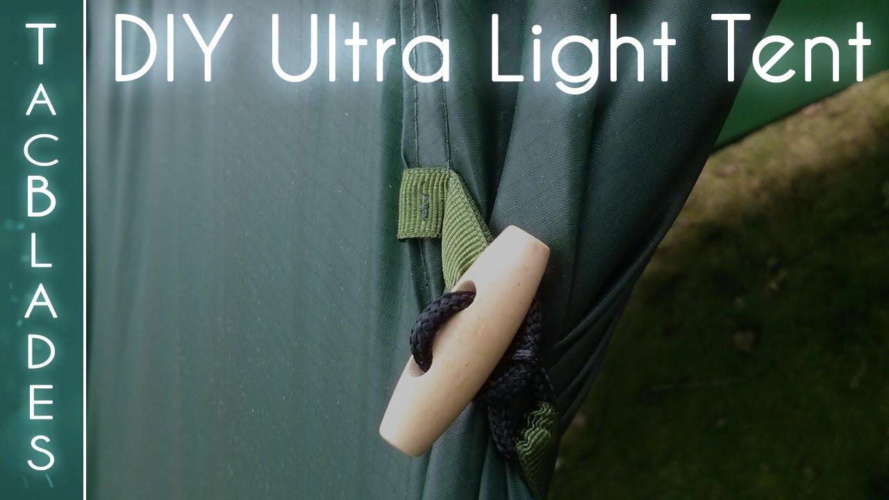& DIY Ultra Lightweight Tent : Wild Camping - YouTube