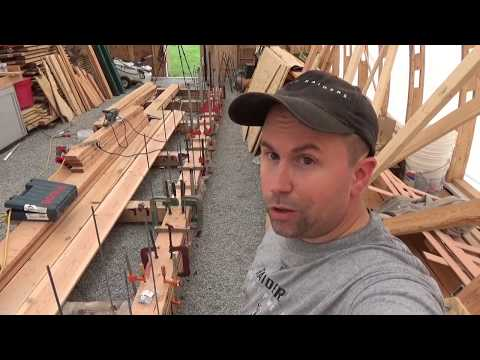 Laying the Keel: laminated wood boat keel, SDP ep13
