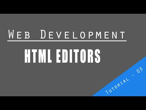 Web Development Tutorial : Html Editors | Learn HTML & CSS in 60 Minutes | Html Crash course thumbnail