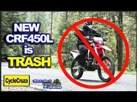 Why New 2019 Honda Crf450l Is Trash Youtube