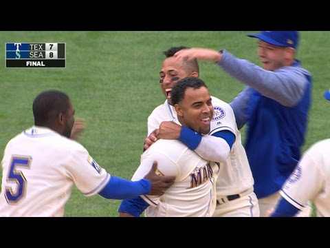 4/16/17: Mariners\' late rally downs Rangers
