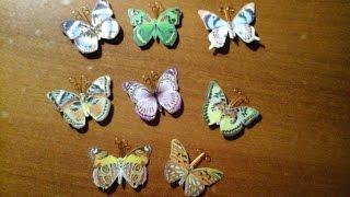 Декоративные бабочки из картона