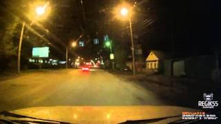 Оборванный провод ударил машину, Омск