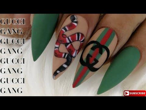 Gucci Inspired Nail Art