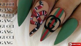 GUCCI Inspired Nail Art 🐍🐍🐍