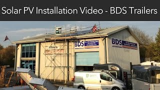 4 kWp Commercial Solar PV System Installation - BDS Trailers