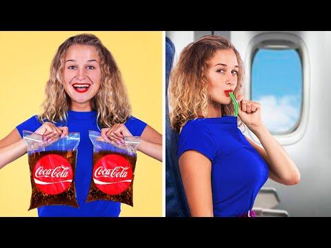 Как пронести еду в самолёт / Смешные трюки с едой