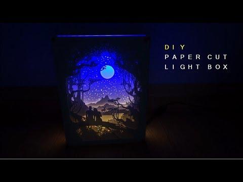 [DIY] 페이퍼커팅 무드등 : 달빛연인  Paper-cut Light Box : Moonlight Lovers