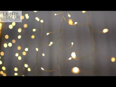 Twinkle Fairy Curtain Lights, 960 LEDs, 12 ft x 8 ft Wedding Backdrop
