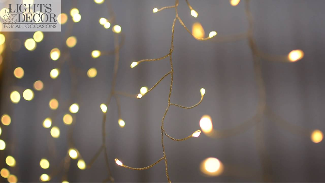 Twinkle Fairy Curtain Lights, 960 LEDs, 12 ft x 8 ft Wedding ...