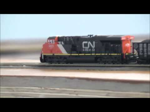 """MY N-SCALE TRAINS"":RUNNING  TRAIN ON  NEW PRR N:"