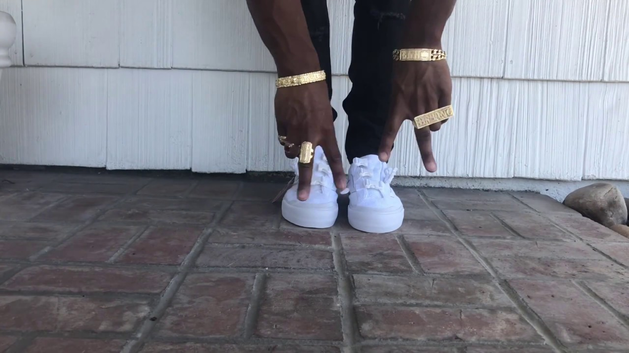 6be21f09f7 On Feet Review Vans 36 Buckle on Feet (Black and White) - YouTube