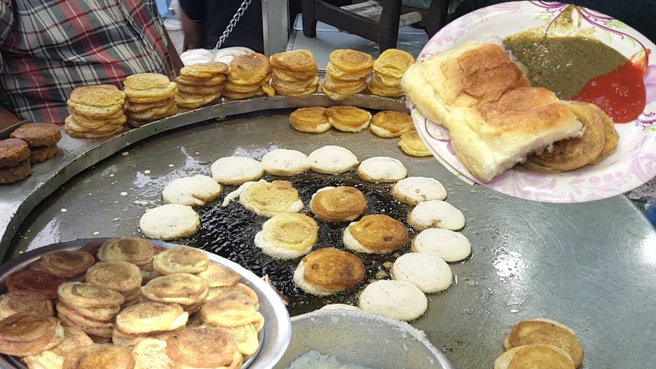 BABU BHAI BUN KABAB at Burns Road Food Street of Karachi Pakistan   BUN KEBAB - YouTube
