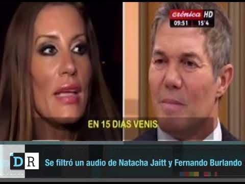 Se filtró un audio de Natacha Jaitt y Fernando Burlando