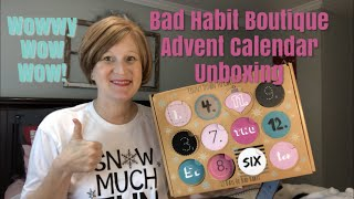 Vlogmas Day 24- Opening My Bad Habit Boutique Advent Calendar - Merry Christmas Eve