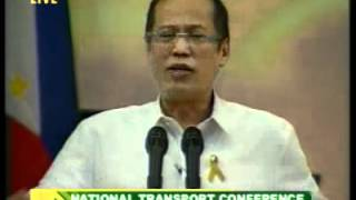 Part 2  - Speech of President Benigno S. Aquino III - 2012 National Transport Conference