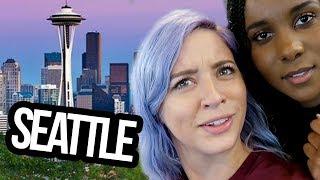 SECRET SHOOT IN SEATTLE?! (Lunchy Break)
