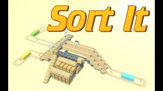 How to make an Item Sorter in Minecraft with Multiple delivery points in Survival Minecraft