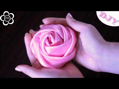 Цветы из ткани видео уроки