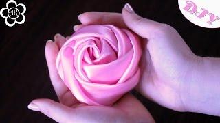 Роза Скрученная из Ткани / DIY Fabric Flowers