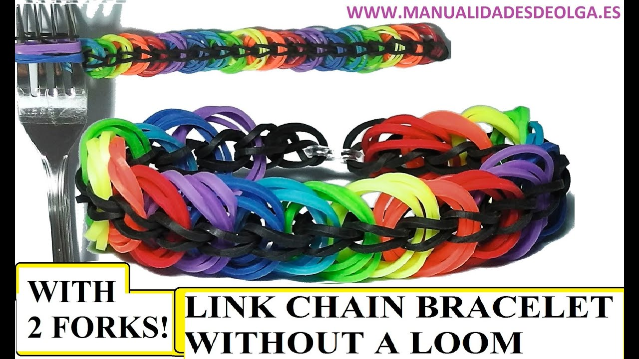 How To Make Link Chain Bracelet With Two Forks Without