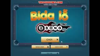 Game Bida lỗ 8 bóng - Video chơi game Bida lỗ 8 bóng cực kỳ đẳng cấp