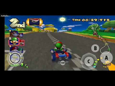 Mario Kart - Double Dash Gamecube Wii Emu For Android Running At 60fps