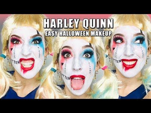 EASY HARLEY QUINN HALLOWEEN MAKEUP TUTORIAL thumbnail