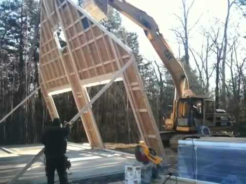 Wall Jacks For Framing gable wall lift - youtube