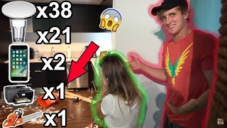 Logan Paul Smashing and breaking Plates & More Compilation [Part 2]