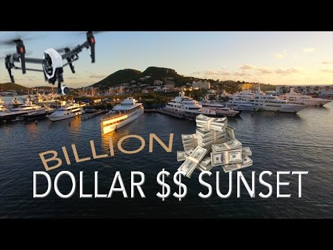 Steve Jobs MEGAYACHT Venus in St Maarten $$ Super Yacht Sunset ~ WeBeYachting.com