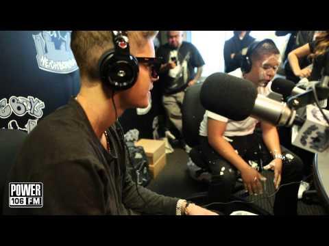 Justin Bieber hits Louie G with a pie and stun gun