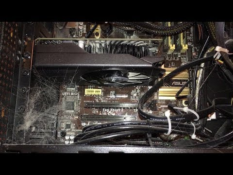 Computer Cleaning 2018: Dust Inside My Desktop Before Cleaning