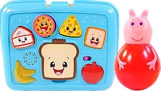 Mejores Videos Para Niños Aprendiendo Colores - Peppa Pig Weebles LunchBox Food Videos For Kids