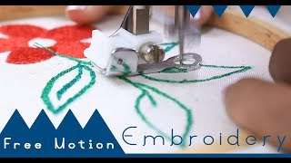 Class 50: How to use Free Motion Embroidery Foot for beginners - Brother GS2700