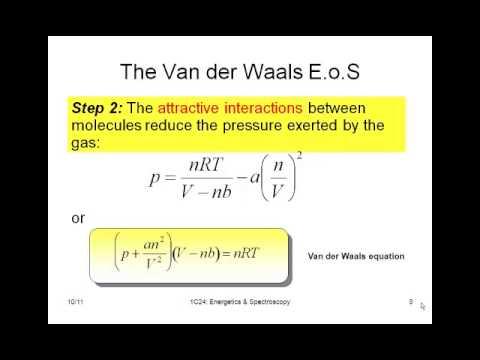 chemistry vignettes van der waals equation of state youtube. Black Bedroom Furniture Sets. Home Design Ideas