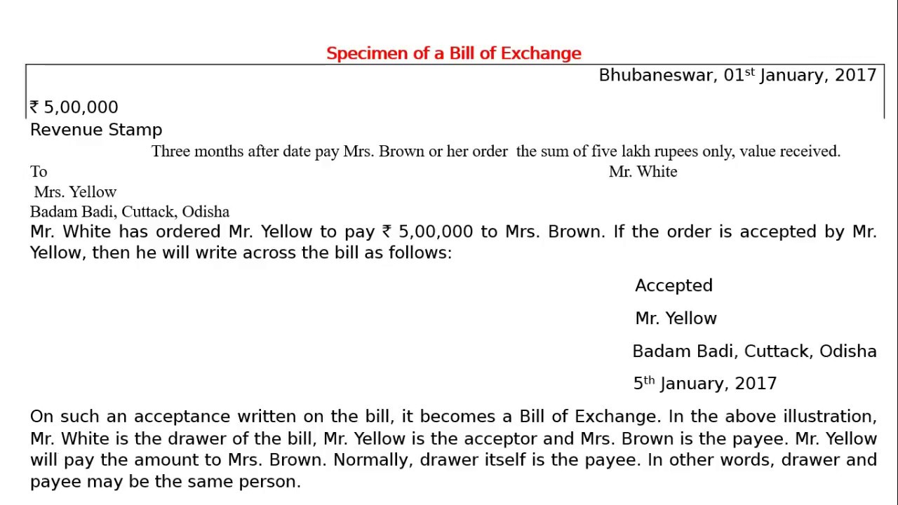 Specimen of a bill of exchange youtube specimen of a bill of exchange thecheapjerseys Gallery