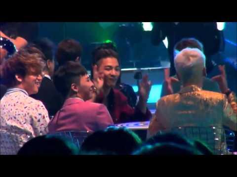 [Fancam] MAMA 2015 BIGBANG Reaction To IKON Rhythm Ta